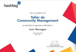 COMMUNITY MANAGER EN PSICOLOGIA hashtag